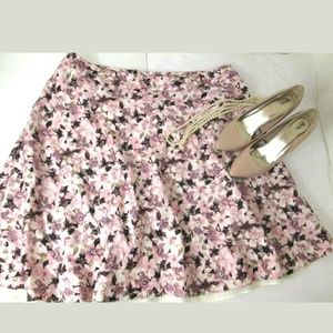 Christopher & Banks floral a-line skirt 18W